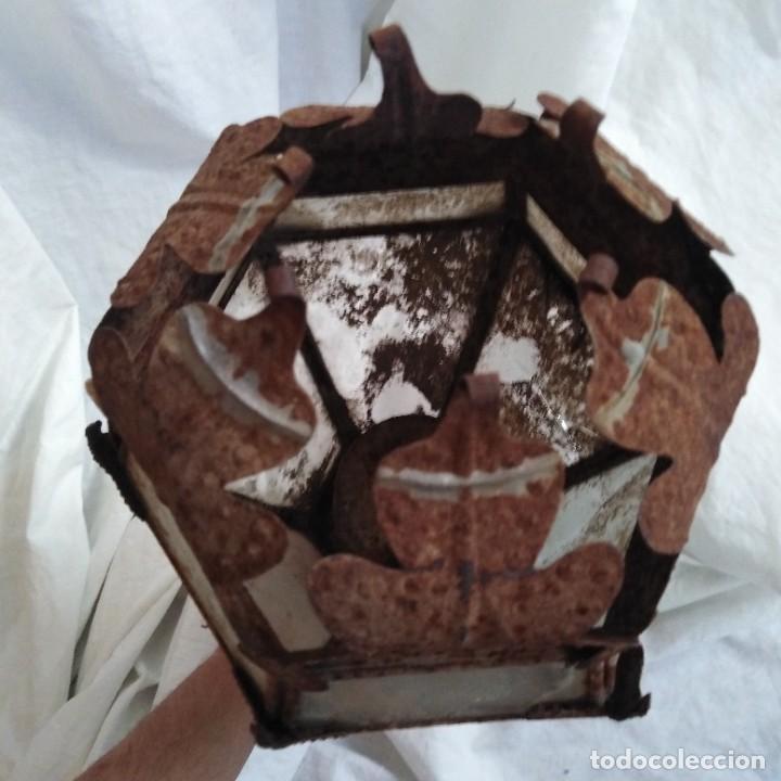 Antigüedades: Antigua lámpara de aceite, farol procesional, siglo xviii - Foto 9 - 218916897