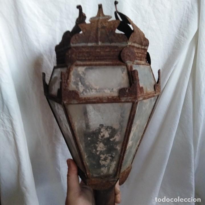 Antigüedades: Antigua lámpara de aceite, farol procesional, siglo xviii - Foto 11 - 218916897