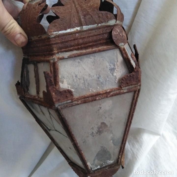 Antigüedades: Antigua lámpara de aceite, farol procesional, siglo xviii - Foto 13 - 218916897