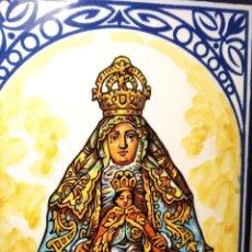 Antigüedades: ANTIGUO AZULEJO DE CERÁMICA - VIRGEN DE LOS REYES SEVILLA - LA ESPERANZA - BONARES - HUELVA. Lote 218917921