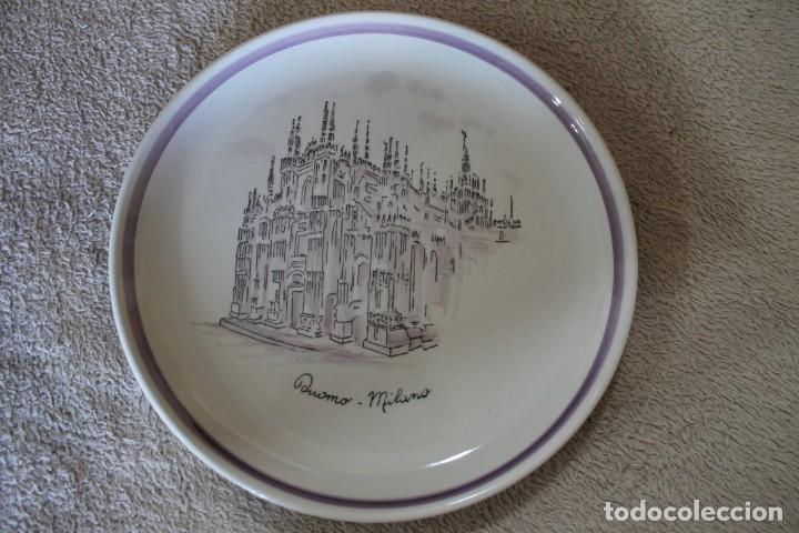 PLATO DUOMO MILANO VERAMICA SILVESTRINI (Antigüedades - Hogar y Decoración - Platos Antiguos)