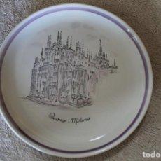 Antigüedades: PLATO DUOMO MILANO VERAMICA SILVESTRINI. Lote 218936412