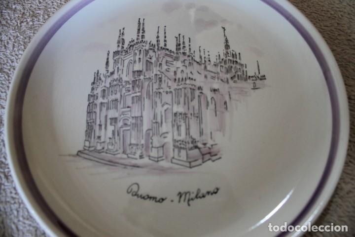 Antigüedades: PLATO DUOMO MILANO VERAMICA SILVESTRINI - Foto 2 - 218936412