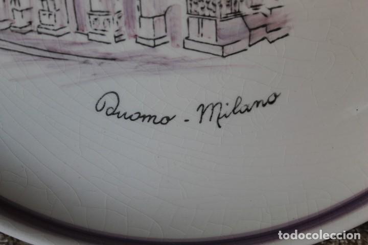 Antigüedades: PLATO DUOMO MILANO VERAMICA SILVESTRINI - Foto 3 - 218936412
