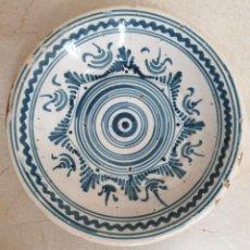 Oggetti Antichi: MAGNIFICO PLATO,FUENTE EN CERAMICA DE TALAVERA,(TOLEDO),S. XIX. Lote 218937012