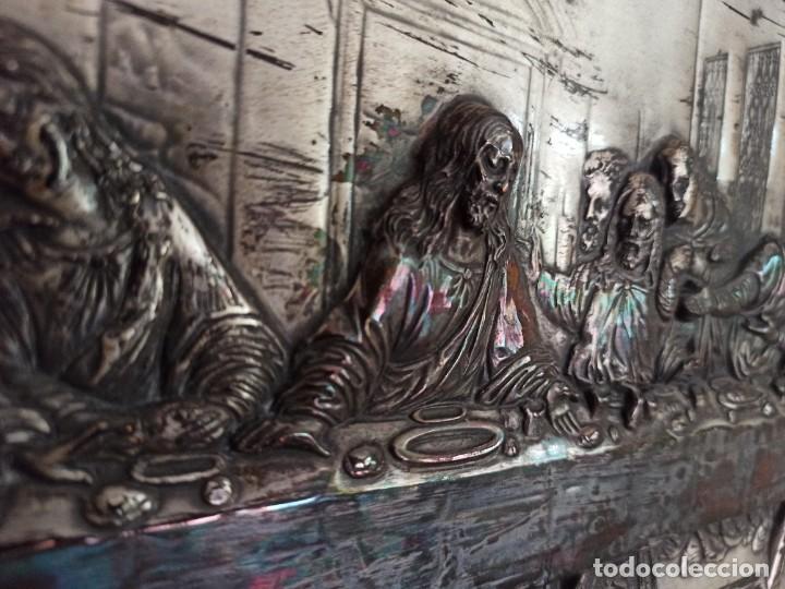 RELIEVE DE LA ÚLTIMA CENA (Antigüedades - Religiosas - Orfebrería Antigua)