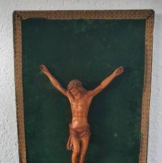 Antigüedades: CRISTO EN MADERA DE BOJ - PP SG XX - ESCUELA CATALANA.. Lote 218941408