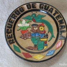Antigüedades: PLATO RECUERDO DE GUATEMALA PARA COLGARDIAMETRO 22CM. Lote 218956766