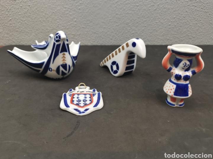 LOTE DE PEQUEÑAS FIGURAS DE SARGADELOS, CONTIENE PIEZAS DE CASTRO 1 ÉPOCA. PALOMAS, MEDALLAS Y MUJER (Antigüedades - Porcelanas y Cerámicas - Sargadelos)
