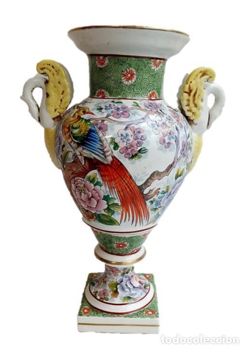 JARRON CHINO S XIX - IMPRESIONANTE PIE DE LÁMPARA (Antigüedades - Hogar y Decoración - Jarrones Antiguos)