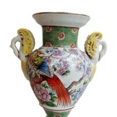 Antigüedades: JARRON CHINO S XIX - IMPRESIONANTE PIE DE LÁMPARA. Lote 218973351