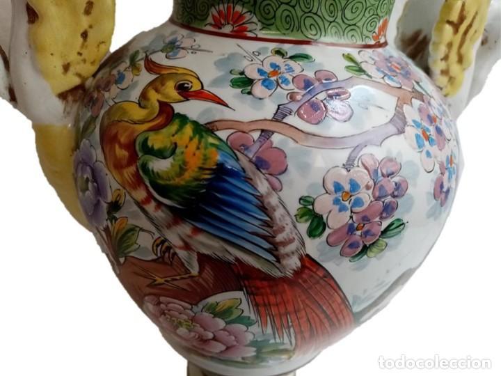 Antigüedades: JARRON CHINO S XIX - IMPRESIONANTE PIE DE LÁMPARA - Foto 2 - 218973351