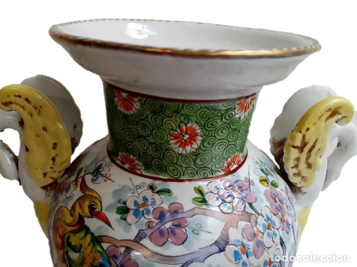 Antigüedades: JARRON CHINO S XIX - IMPRESIONANTE PIE DE LÁMPARA - Foto 4 - 218973351
