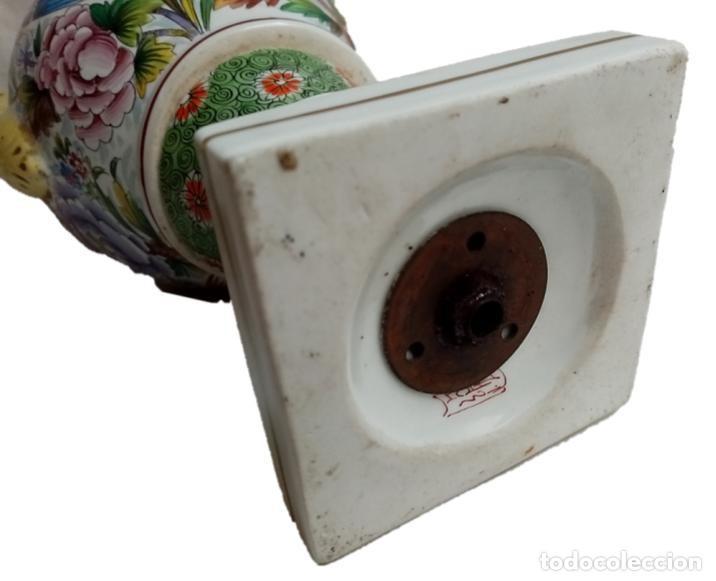 Antigüedades: JARRON CHINO S XIX - IMPRESIONANTE PIE DE LÁMPARA - Foto 6 - 218973351