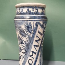 Antigüedades: BOTE ALBARELO DE FARMACIA ROMANI CERÁMICA CATALANA 27,5 CM. Lote 218986677
