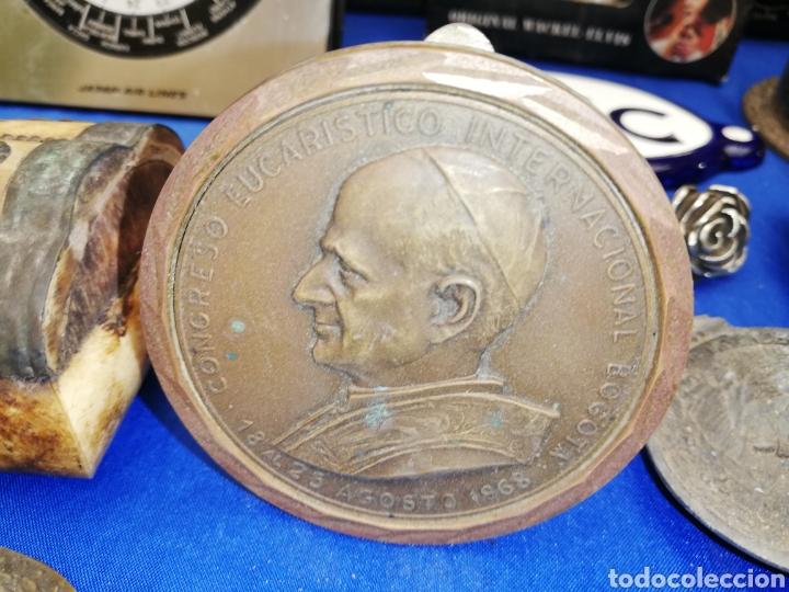 MONEDA.. MEDALLA.. PLACA ASISTENCIA CONSEJO EUCARÍSTICO INTERNACIONAL 1968.. BOGOTÁ (Antigüedades - Religiosas - Medallas Antiguas)