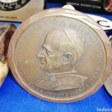 Antigüedades: MONEDA.. MEDALLA.. PLACA ASISTENCIA CONSEJO EUCARÍSTICO INTERNACIONAL 1968.. BOGOTÁ. Lote 218990597