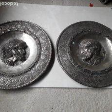 Antigüedades: PLATOS REPUJADOS. Lote 219003473