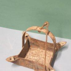 Antigüedades: LAMPARA CANDIL DE 4 BOCAS REMACHADO. Lote 219011865