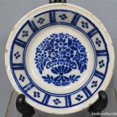 Antigüedades: ANTIGUO PLATO HONDO DE CERAMICA. TRIANA. SIGLO XIX. Lote 219013540