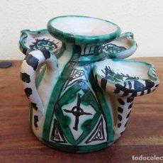 Antigüedades: PRECIOSA CERÁMICA ARTESANAL DE TERUEL, PUNTER, PERFECTO ESTADO.. Lote 219022301
