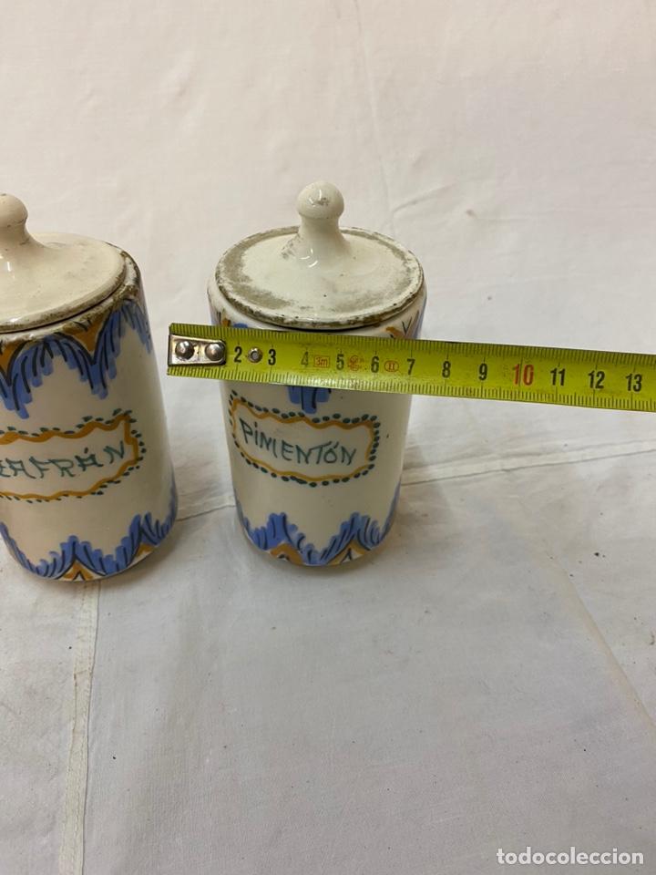 Antigüedades: Antiguos especieros cocina rústicos Pimentón Azafrán Pimienta - Foto 3 - 219025390