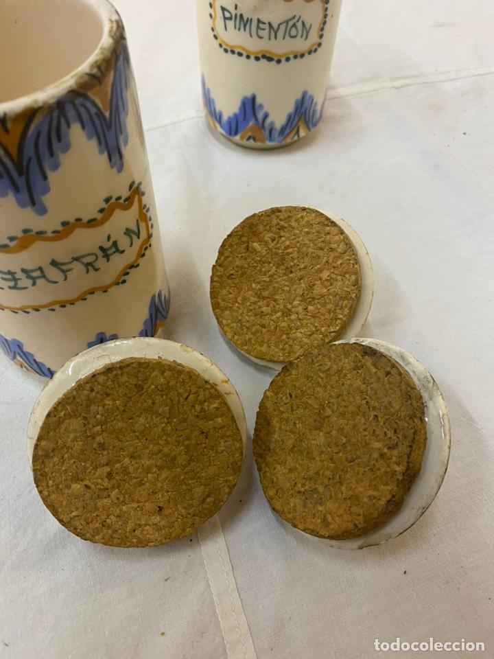 Antigüedades: Antiguos especieros cocina rústicos Pimentón Azafrán Pimienta - Foto 4 - 219025390