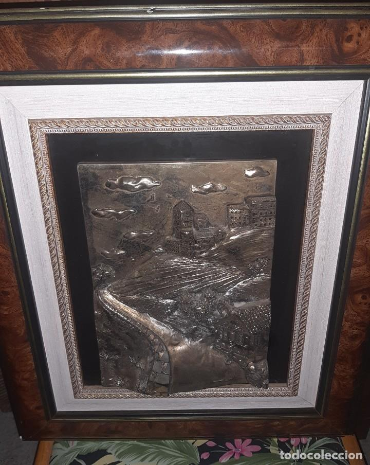 Antigüedades: cuadro plata relieve - Foto 3 - 219029846
