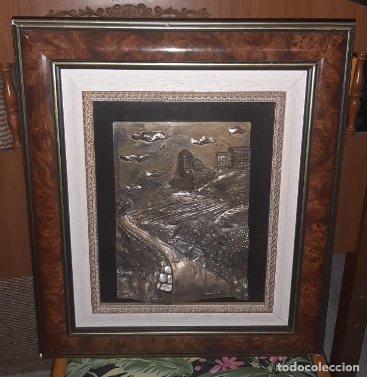 Antigüedades: cuadro plata relieve - Foto 4 - 219029846