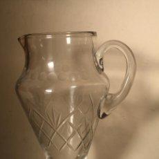 Antigüedades: ANTIGUA JARRA DE AGUA CRISTAL TALLADO AÑOS 40 SANTA LUCIA - CARTAGENA. Lote 219034192