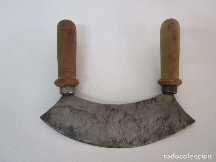 ANTIGUO CORTA CARNE, PAN - CUCHILLO (Antigüedades - Técnicas - Rústicas - Utensilios del Hogar)