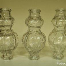 Antigüedades: ANTIGUOS TUBOS DE CRISTAL PARA COLUMNA DE LAMPARA. ENFILAJE. FUSTE. LOTE 3 PIEZAS.. Lote 219045376