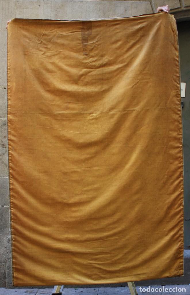 Antigüedades: Ramon Alsina Amils, tapiz pintado, 1914, escena religiosa, firmado y fechado. 203x134cm - Foto 4 - 219056945