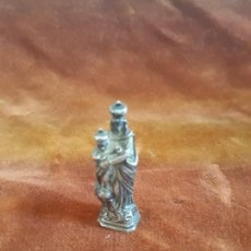 Antigüedades: PEQUEÑA VIRGEN EN PLATA MACIZA SIGLO XIX. Lote 219065260