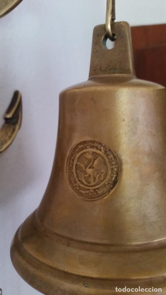 Antigüedades: ANTIGUA CAMPANA SELADA COM EL BRAZON DE FAMILIA ,ANO 1824 DE PUERTA DE ENTRADA HECHA EN BRONZE - Foto 6 - 219069277