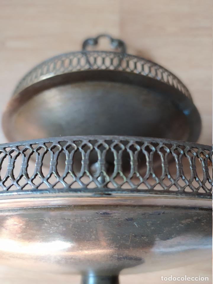 Antigüedades: Frutero bañado en plata - Foto 3 - 219069487