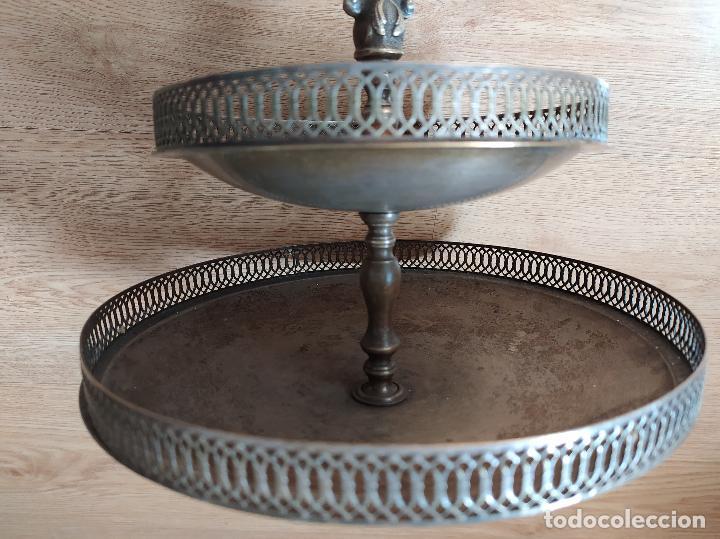 Antigüedades: Frutero bañado en plata - Foto 5 - 219069487