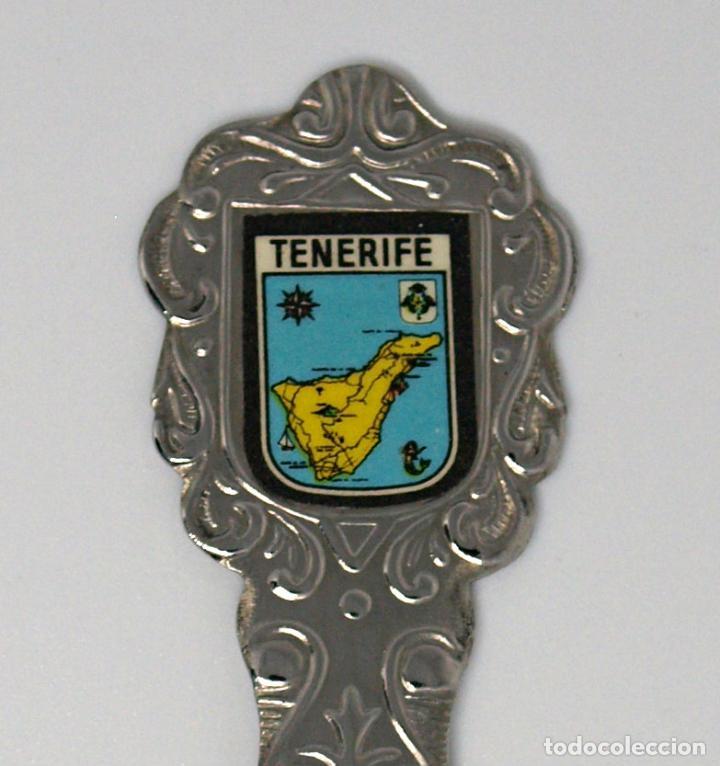 Antigüedades: CUCHARILLA DE METAL PLATEADO. TENERIFE. 12,2 CM LARGO. VER FOTOS PARA VER DETALLES. - Foto 5 - 219077060
