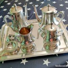Antigüedades: JUEGO DE CAFÉ EN PLATA DE LEY, COMPLETO CON MARCAS S.XX. Lote 219097385