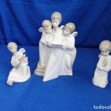 Antigüedades: LLADRO - LOTE TRES FIGURAS ANGELITOS, NAO DE LLADRÓ LEER DESCRIPCION! SM. Lote 219110313