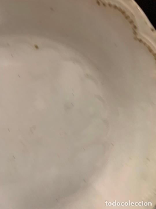 Antigüedades: Antiguo plato o fuente, S.XIX, sello bastante ilegible...Pickman?. 26cms de diametro - Foto 4 - 219114670