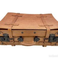 Antigüedades: MALETA DE CUERO , MUY BIEN CONSERVADA,. Lote 219144215