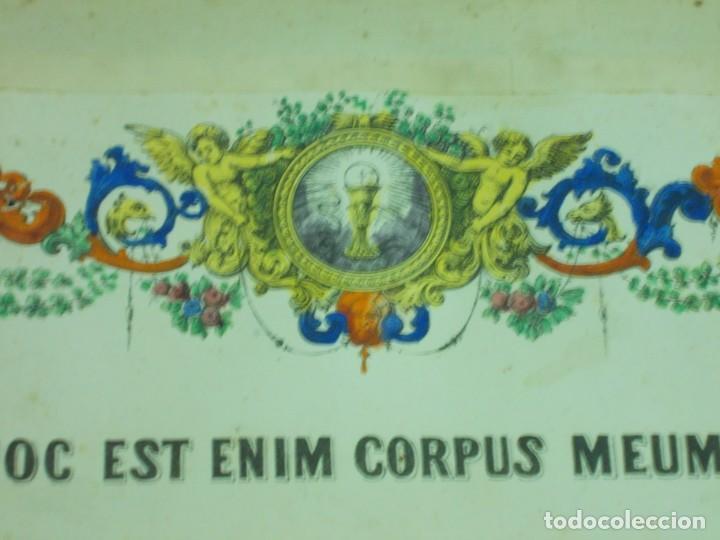 Antigüedades: ANTIGUO MARCO DE BRONCE PARA SACRAS DE ESTILO NEOGOTICO CON GRABADO ILUMINADO - Foto 4 - 219149597