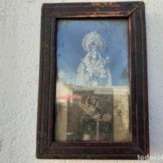 Antigüedades: MARCO ANTIGUO CON LAMINA RELIGIOSA. Lote 219169221