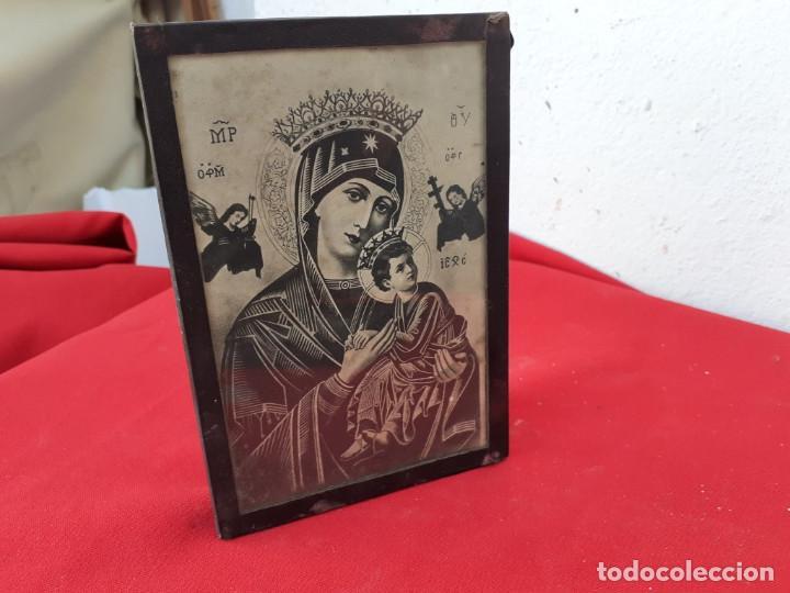 Antigüedades: cuadro con lamina religiosa - Foto 2 - 219169355