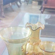 Antigüedades: 3 PIEZAS VIDRIO SOPLADO DE GORDIOLA. Lote 219178357