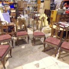 Antigüedades: BUEN CONJUNTO DE 6 SILLAS. Lote 219188563
