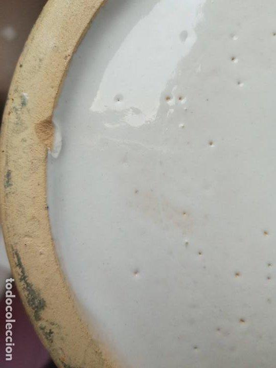 Antigüedades: Antiguo jarron creamica santa Ana triana- animales toro pintado a mano - Foto 8 - 219199245