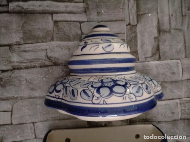 Antigüedades: AGUAMANIL DE CERAMICA GRAN TAMAÑO MOTIVOS FLOREALES - Foto 4 - 219218103