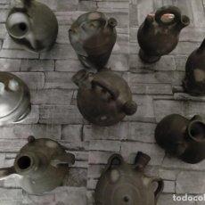 Antigüedades: COLECCION DE CERAMICA NEGRA CATALANA JOSEP FONT JARRAS BOTIJOS 9. Lote 219220512